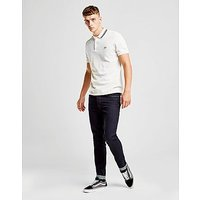 Fred Perry Textured Collar Polo Shirt - White - Mens