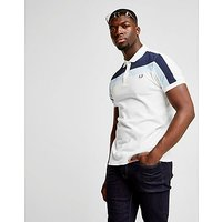 Fred Perry Control Panel Polo Shirt - White/Blue - Mens