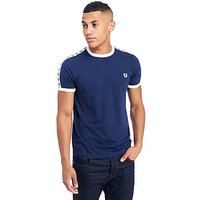 Fred Perry Taped Retro Ringer T-Shirt - Navy - Mens