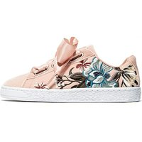 PUMA Basket Heart Embroidered Womens - Pink - Womens
