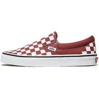 Vans Classic Slip On Womens - Red/White - Womens