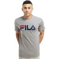 Fila Leith Logo T-Shirt - Grey/Navy - Mens