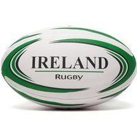 Daricia Ireland Rugby Ball - White/Green - Kids, White/Green