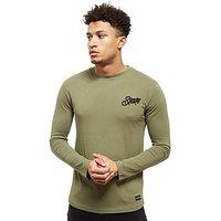 Nanny State Alpha Long Sleeve T-Shirt - green - Mens