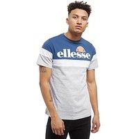 Ellesse Rexel Colour Block T-Shirt - Grey/Navy/White - Mens