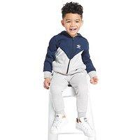 adidas Originals MOA Full Zip Hooded Suit Children - Grey/Navy - Kids