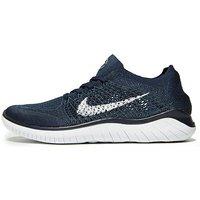 Nike Free RN Flyknit - Navy/White - Mens