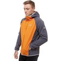 Jack Wolfskin Zenon Softshell Lightweight Jacket - Orange/Grey - Mens
