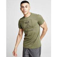 Jack Wolfskin Range Logo T-Shirt - Khaki - Mens
