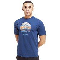 Columbia Short Sleeve Mountain Logo T-Shirt - Navy - Mens
