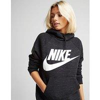 Nike Rally Overhead Hoodie - Black/White - Womens