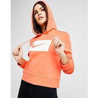 Nike Swoosh Crop Hoodie - Red/White - Womens