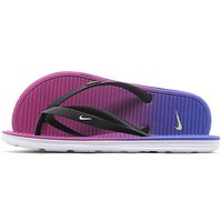 Nike Solarsoft Print Flip Flops Junior - Black/ White/Purple/ Blue - Kids