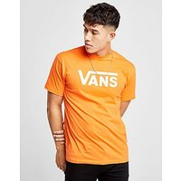 Vans Drop V Logo T-Shirt - Orange/White - Mens