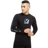 Vans Grand V Fade Long Sleeve T-Shirt - Black - Mens
