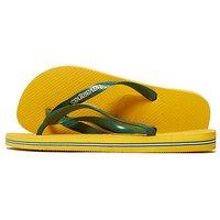 Havaianas Brazil Logo Flip Flops - Yellow/Green - Mens