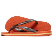 Havaianas Brazil Logo Flip Flops - Orange - Mens