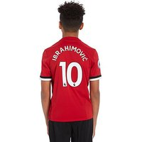 adidas Manchester United Home 2017 Ibra #10 Shirt Junior - Red/White - Kids