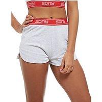 Supply & Demand Tape Sport Shorts - Light Grey/Red - Womens