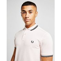 Fred Perry Twin Tipped Short Sleeve Polo Shirt - Grey - Mens