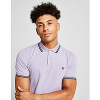 Fred Perry Twin Tipped Short Sleeve Polo Shirt - White/Black/Silver - Mens