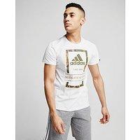 adidas Camo Box T-Shirt - White - Mens