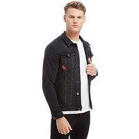 11 Degrees Denim Washed Jacket - Black - Mens
