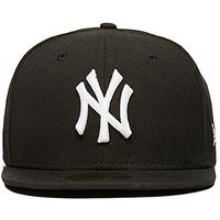 New Era MLB New York Yankees 59FIFTY Fitted Cap - Black/White - Mens