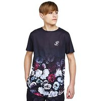 ILLUSIVE LONDON Floral Fade T-Shirt Junior - Navy/White/Red - Kids