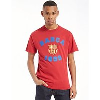 Official Team F.C Barcelona Varsity T-Shirt - Dark Red - Mens
