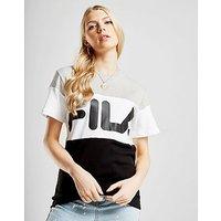 Fila Colour Block T-Shirt - Black/White/Grey - Womens