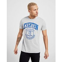 Official Team Everton F.C Crest T-Shirt - Grey/Blue - Mens
