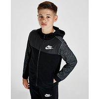 Nike Advance Woven Overlay Full Zip Hoodie Junior - Kids