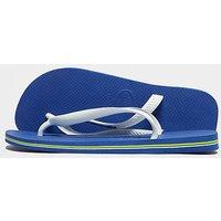 Havaianas Brazil Logo Flip Flops - Blue - Mens