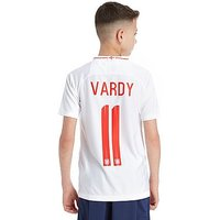 Nike England 2018 Vardy #11 Home Shirt Junior - White/Red - Kids