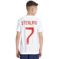 Nike England 2018 Sterling #7 Home Shirt Junior - White/Red/Blue - Kids