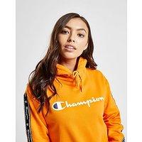 CHAMPION | Champion Tape Crop Overhead Hoodie - Orange - Womens | Goxip