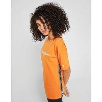 CHAMPION | Champion Tape Logo Boyfriend T-Shirt - Orange - Womens | Goxip