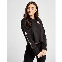CHAMPION | Champion Long Sleeve Crop T-Shirt - Black - Womens | Goxip
