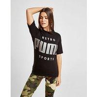 PUMA   PUMA Retro T-Shirt - Black - Womens   Goxip