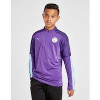PUMA Manchester City FC 1 4 Zip Top Junior   Purple   Kids
