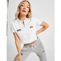 Get a jd exclsuive look with this women's piping crop polo shirt from ellesse. in a fresh white colourway ...
