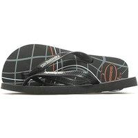 Havaianas Aero Print Flip Flops - Black - Mens