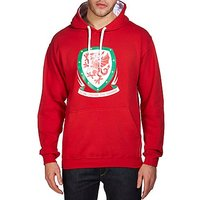 Official Team Wales Crest Hoodie - Red - Mens