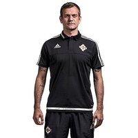 adidas Northern Ireland Climalite Polo Shirt - Black - Mens