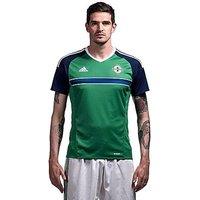 adidas Northern Ireland 2016 Home Shirt - Green - Mens