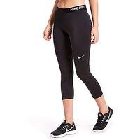 Nike Pro Capri - Black/White - Womens