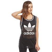 adidas Originals Mesh Trefoil Vest - Black/White - Womens