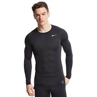 Nike Pro Cool Compression Longsleeve Top - Black - Mens