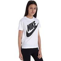 Nike Girls Signal T-Shirt Junior - White/Black - Kids